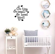 Amazon Com Vinyl Wall Art Decal So Tiny So Small So Loved By All 22 X 22 Sweet Charming Modern Heart Shape Quote For Kids Bedroom Playroom Nursery Living Room