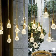 modern crystal glass pendant light