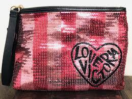 victoria s secret glitter makeup bag