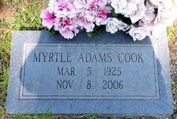 Myrtle Adams Cook (1925-2006) - Find A Grave Memorial