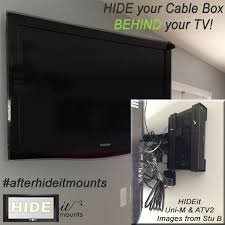 hide your cable box behind your tv we