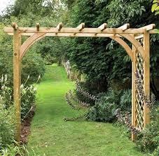 2m wide wooden garden arch