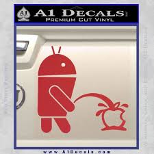 Android Apple Decal