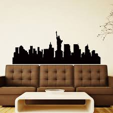 New York Skyline City Silhouette Wall Vinyl Decal Sticker Home Etsy