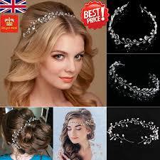 crystal hair accessories pearls wedding