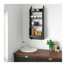 vadholma wall shelf black with