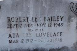 Ada Lee Lovelace Bailey (1912-1978) - Find A Grave Memorial