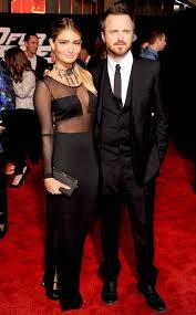 Aaron Paul's Wife Wears Sheer Dress to Need For Speed Premiere - E! Online  - AU