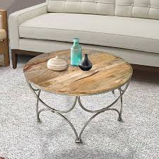 round wooden top coffee table with