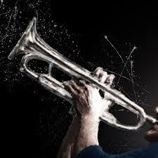 trumpet jazz wallpaper mural