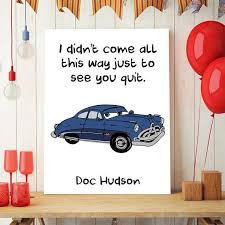 cars quote printable cars party doc hudson disney cars