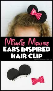 minnie mouse hair clip and disneyland