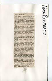Documents: Obituary- Rafferty, Nona 1: Rossville Kansas area genealogy