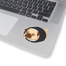 Sitting Pug Sticker Pup Supply