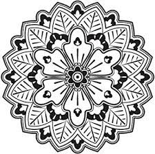 Amazon Com Cute Grayscale Henna Mandala Flower Icon Vinyl Decal Sticker 12 Wide 3 Automotive