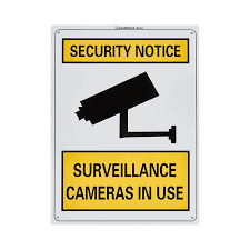 Sandleford 300 X 225mm Surveillance Cameras In Use Plastic Sign