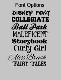 Storybook Font Name Vinyl Decal Tumbler Sticker Stickers