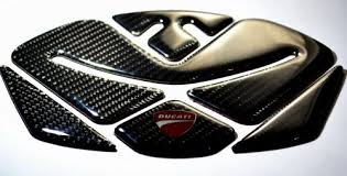 9 8 Inches Real Carbon Fiber Silver 3d Sticker Vinyl Decal Emblem Protection Gas Tank Pad For Kawasaki Ninja Zx6r All Parts Fuel System