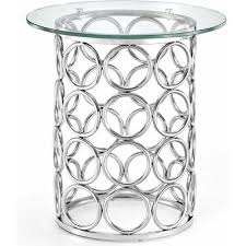 round glass silver circles base accent