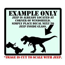 Pin By Andrea On Jeep In 2020 Jeep Bumper Stickers Tyrannosaurus Rex
