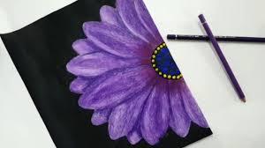رسم الورد البنفسج بطريقة سهلة وجميلة Speed Painting Purple Rose