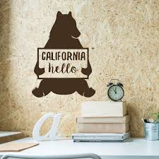 California Bear Wall Decal Vinyl Decor Wall Decal Customvinyldecor Com