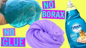 no glue slime testing dish soap