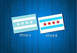 Amazon Com Celycasy Chicago Flag Car Decal Chicago Vinyl Decal Laptop Sticker Baby