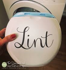 Lint Vinyl Decal Laundry Room Decor Vinyl Lettering Etsy