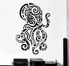 Removable Octopus Wall Decal Ocean Sea Ornament Tribal Mural Vinyl Wall Sticker Kids Rooms Home Decoration Wall Paper Decor Wall Art Words Wall Cling From Onlinegame 11 58 Dhgate Com