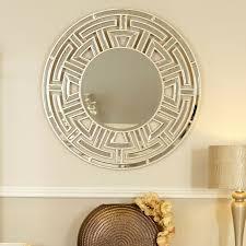 athens gold aztec circular wall mirror