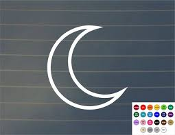 Decal Crescent Moon Car Decal Lunar Cycle Moon Cycle Moon Etsy