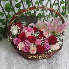 مساء الورد والجمال سلات ورد طبيعي هدايا سومر Sumer Gifts