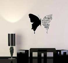 Wall Decal Butterfly Phrases Words Beautiful Quote Vinyl Sticker Ed814 Ebay