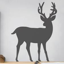 Isabelle Max Deer Wall Decal Colour Dark Grey Grey Animal Wall Decals Horse Wall Decals Wall Decals