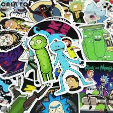 20 Off 50pcs Rick And Morty Waterproof Anime Sticker For Guitar Laptop Motorcycle Laptop Phone Rick And Morty Stickers Anime Stickers Waterproof Stickers