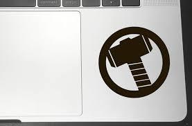 Amazon Com Mjolnir Hammer Vinyl Sticker Decals For Car Bumper Window Macbook Laptop Iphone 4 Black Arts Crafts Sewing