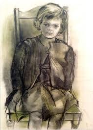 Wayne Thiebaud - Twinka Thiebaud, Age 4.   Wayne thiebaud, Male sketch, Art
