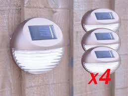 Garden Fence Solar Lights Easy Fit No Mains Requires Auto On Off Pack Of 4 Bronze Amazon Co Uk Kitchen Home