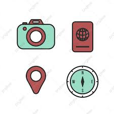 cute travel icons design cute travel