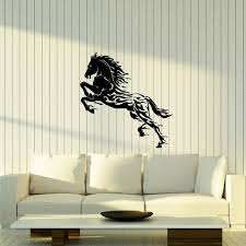 Horse Silhouette Wall Decal Water Drops Abstract Animal Stallion Mustang Wild Spirit Vinyl Window Sticker Living Room Decor E035 Wall Stickers Aliexpress