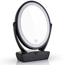 miusco two sided lighted makeup mirror