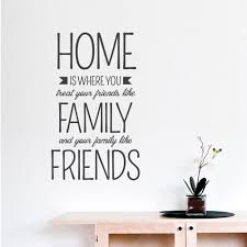 home is where wall quote decal