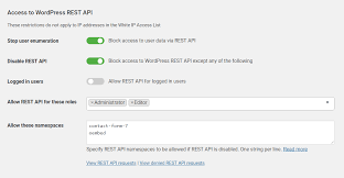 restrict access to the wordpress rest