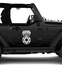 Jeep Vader Edition Wrangler Unlimited Vinyl Decal Jeep Decal