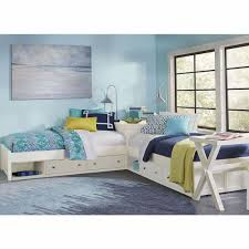 Hillsdale Kids Pulse L Shaped Bed With Double Storage White 33051n2s Double Bed Designs Bed Design Sister Room