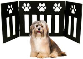 Amazon Com Portable Barrier Safety Pet Gate Fence Dog Paw Pattern Guard Cat Magic Pets Folding Puppy Door Indoor Safety Expanding Kid Toddler Baby Door Block Safety Area Divider Boundary Protect Doorway Stairway