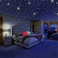 Glow In The Dark Stars For Ceiling Or Wall Stickers Glowing Wall Decals Stickers Room Decor Kit Galaxy Glow Star Set And Solar System Decal For Kids Bedroom Decoration