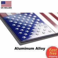 Aluminum Usa America Flag Sticker Decal Emblem Badge For Car Window Auto Phone Ebay