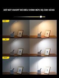 Đèn Bàn Học Đọc Sách LED Chống Cận 03 Chế Độ Ánh Sáng Vàng Bảo Vệ Mắt - Đèn  đọc sách Thương hiệu OEM